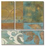 Bronze Leaf Quadrant II Print by W. Green-Aldridge
