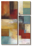 Abstract Blue Poster by W. Green-Aldridge
