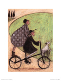 Double Decker Bike Poster von Sam Toft