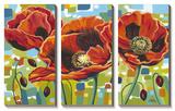 Vivid Poppies III Art by Caroline Vitaletti