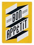 Gedekte tafel met daarbij tekst: Bon Appetit Posters van Edu Barba