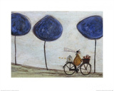 Freewheelin' with Joyce Greenfields and the Felix 3 Kunstdrucke von Sam Toft