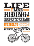 Riding A Bicycle Posters