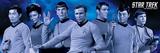 Star Trek Cast Blue Posters