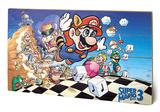Super Mario Bros - 3 Wood Sign Targa di legno