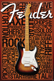 Fender Words Poster