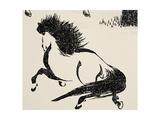 Horse, C1814 Giclée-tryk af Katsushika Hokusai