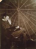 Nikola Tesla (1856-1943) Bedruckte aufgespannte Leinwand