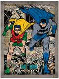 Batman - Comic Montage Poster Stampa master