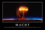 Macht: Motivationsposter Mit Inspirierendem Zitat Fotografie-Druck