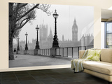 London Fog Wall Mural Mural de papel de parede