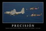 Precisión. Cita Inspiradora Y Póster Motivacional Fotoprint