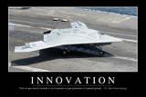 Innovation: Citation Et Affiche D'Inspiration Et Motivation Fotografie-Druck