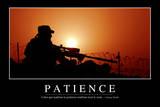 Patience: Citation Et Affiche D'Inspiration Et Motivation Stampa fotografica