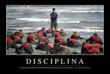 Disciplina. Cita Inspiradora Y Póster Motivacional Stampa fotografica