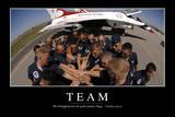 Team: Motivationsposter Mit Inspirierendem Zitat Fotografie-Druck