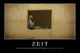 Zeit: Motivationsposter Mit Inspirierendem Zitat Fotografie-Druck