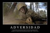 Adversidad. Cita Inspiradora Y Póster Motivacional Fotografie-Druck