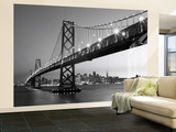San Francisco Skyline  Wall Mural Behangposter