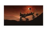 Curiosity the Mars Mountaineer Kunstdruck