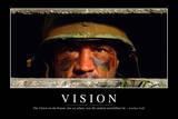 Vision: Motivationsposter Mit Inspirierendem Zitat Stampa fotografica
