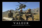 Valeurs: Citation Et Affiche D'Inspiration Et Motivation Fotografie-Druck