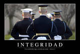 Integridad. Cita Inspiradora Y Póster Motivacional Stampa fotografica
