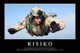 Risiko: Motivationsposter Mit Inspirierendem Zitat Fotografie-Druck