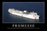 Promesses: Citation Et Affiche D'Inspiration Et Motivation Fotografie-Druck