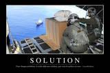 Solutions: Citation Et Affiche D'Inspiration Et Motivation Fotografie-Druck