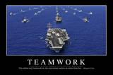 Teamwork: Motivationsposter Mit Inspirierendem Zitat Fotografie-Druck