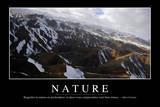 Nature: Citation Et Affiche D'Inspiration Et Motivation Fotografie-Druck