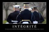 Intégrité: Citation Et Affiche D'Inspiration Et Motivation Fotografie-Druck