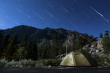 Star Trails and a Lone Tent in the Inyo National Forest, California Fotografisk trykk