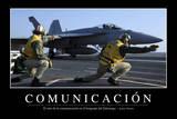 Comunicación. Cita Inspiradora Y Póster Motivacional Fotografie-Druck
