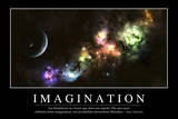 Imagination: Citation Et Affiche D'Inspiration Et Motivation Lámina fotográfica