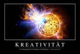 Kreativität: Motivationsposter Mit Inspirierendem Zitat Fotografie-Druck