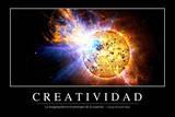 Creatividad. Cita Inspiradora Y Póster Motivacional Lámina fotográfica