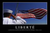 Liberté: Citation Et Affiche D'Inspiration Et Motivation Fotografie-Druck