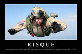 Risques: Citation Et Affiche D'Inspiration Et Motivation Fotografie-Druck