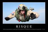 Risques: Citation Et Affiche D'Inspiration Et Motivation Stampa fotografica