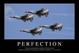 Perfection: Citation Et Affiche D'Inspiration Et Motivation Fotografie-Druck
