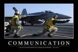 Communication: Citation Et Affiche D'Inspiration Et Motivation Fotografie-Druck