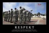 Respekt: Motivationsposter Mit Inspirierendem Zitat Fotografie-Druck