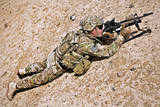 U.S. Army Soldier Provides Security in Afghanistan Reproduction photographique