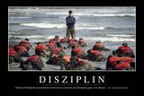 Disziplin: Motivationsposter Mit Inspirierendem Zitat Stampa fotografica