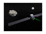 Dawn Robotic Spacecraft Orbiting Ceres and Vesta Print