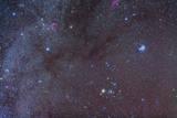 The Taurus Region Showing Dark Lanes of Nebulosity Fotografisk trykk