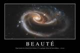 Beauté: Citation Et Affiche D'Inspiration Et Motivation Fotografie-Druck