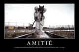 Amitié: Citation Et Affiche D'Inspiration Et Motivation Fotografie-Druck